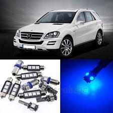 Error Free Blue 12pcs Interior LED Light Kit for 2005-2011 Benz ML-Class W164