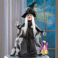 "HALLOWEEN WITCH TABLETOP FIGURE DECORATION PLASTIC POLYESTER 28""H NEW"
