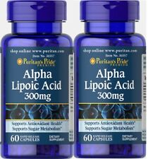 2X Alpha Lipoic Acid 300 mg x  60 (120) Capsules Puritan's Pride - 24HR DISPATCH
