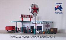 HO Scale Caltex Garage Petrol Station Model Railway Building Kit - CTS1