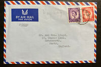 1966 British RAF Field Post Hong Kong Airmail Cover To Letchworth England