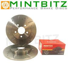 BMW Mini Mk1 ALL Rear Drilled & Grooved Brake Discs & Mintex Pads
