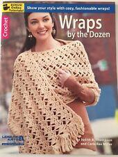 CROCHET pattern WRAPS BY THE DOZEN shawls scarves worsted yarn stripes granny