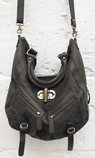 DUNE -Dusty Brown Extra Soft Leather Convertible Bag -Large- Excellent Condition