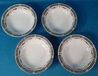 "Crown Imperial 6 3/4"" Bowl Set of 4 Czecho-Slowakia Pattern Code CIM88"