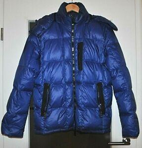 GEOX Daunenjacke mit Kapuze 50 dark royal blau,Respira, Winterjacke, glänzend