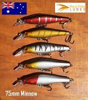 5 Fishing Lures Trout Bream Bass Barra Whiting Flathead Minnow Tackle Bulk Lot