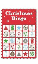 15 Xmas Bingo Cards Christmas Party Stocking Gift Bag Filler Santa Secret Game