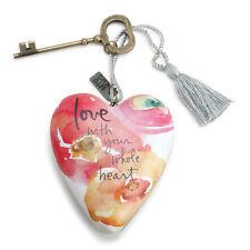 LOVE WHOLE HEART Art Heart Sculpture Ornament Key to My Heart New valentine