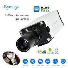 Eyes.sys H.265 5.0MP 1080P 48V POE HD IP CCTV ONVIF P2P BOX CAMERA 6-15mm Lens