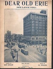 Dear Old Erie We Love You 1923 (Erie PA) Sheet Music