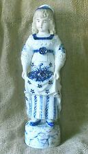 "Antique Porcelain Figurine with Flow Blue and Gilt Decoration 15"""