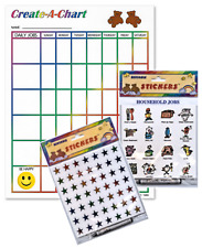 Create a Chart with Job Stickers and Reusable Rainbow Star Stickers