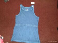 justice - girls size  12--blue-- peplum top nwt