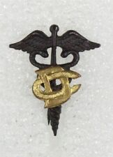 """Army Collar Pin: """"DC"""" Dental Corps, WWI Medical (#4)"""