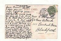 EDW.VII. 1907..BRAMLEY,YORKS.  DUPLEX. POSTMARK.PLEASE SEE PICTURE