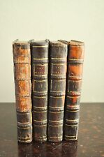 The Rambler in Four Volumes Samuel Johnson 1779 9th ed. Leather Boards Vols 1-2