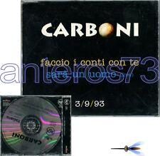 """LUCA CARBONI """"FACCIO I CONTI CON TE"""" RARO CDsingolo PROMO"""