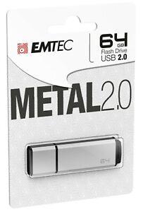 Clef USB 64Go Emtec cle USB 64 Go USB Flash Drive Metal 2.0 USB 2.0 clé USB 64