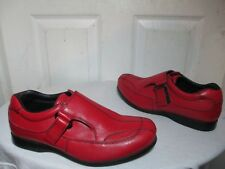 PRADA WOMEN RED LEATHER DRESS CASUAL SHOES STYLE 4P 0869 5½ US 9.5 MADE IN ITALY