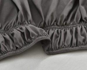 Rose Home Ruffled Bed Skirt Textile Home Basics Polyester Twin/Full Dark Grey
