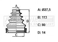 CV Joint Boot Kit fits TOYOTA LAND CRUISER J12 3.0D Front Inner 02 to 10 1KD-FTV