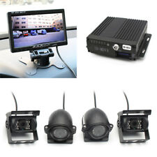"​4CH 7"" TFT Monitor Truck Car DVR Video Recorder Box With 4Pcs Waterproof Camera"