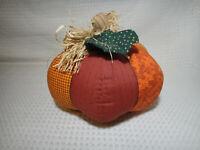 Hallmark Plush Pumpkin Quilt Patch Sewn Autumn Thanksgiving Fall Halloween Decor