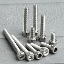 50Pcs Metric M3 Srews 4/6/8/10/12/14/16/20/25/30mm Steel Bolt Hexagon Head Screw