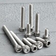 50Pcs Metric M3 Srews 4/6/8/10/12/14/16/20/25/30mm Steel Bolt Hexagon Head Screw