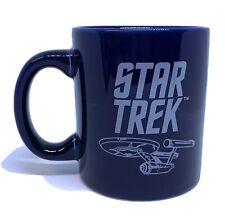 Star Trek NCC-1701 Starship Enterprise Blueprint Mug Cup Navy Blue 2011 CBS