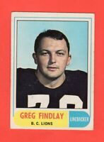 1968 OPC O-Pee-Chee CFL #123 Greg Findlay Ex