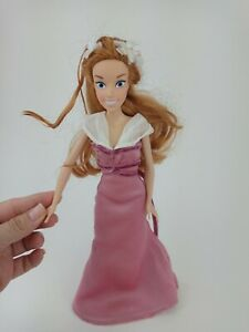 Disney Enchanted Giselle Barbie Doll Red Hair Pink Gown Dress