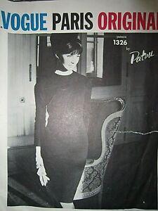 Vintage Vogue Paris Original Dress Pattern by Patou . size 14, cut , 34/36