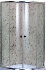 Box cabina doccia Brixo Albatros semicircolare 80x80 vetro trasparente 5 mm