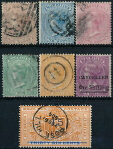 MAURITIUS, UNCHECKED CLASSIC LOT OF 7 DIFFERENT STAMPS, SEE....  #A792