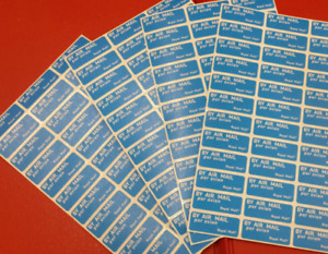 Airmail Stickers ~Sheets of 36 (Par Avion) buy more 4 less