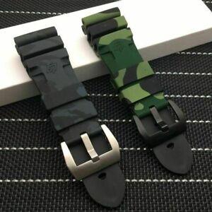 24,26mm Camouflage buntes Silikonkautschuk-Uhrenarmband ersetzen für...