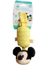 NEW Disney Baby Mickey Mouse Plush Take Along Chime Toy Car Seat Stroller