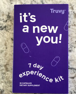 Truvy 7 Day Experience Kit ~ Weight Loss ~ 30 Capsules ~ TRU & VY ~ Sealed NEW