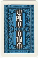 Playing Cards 1 Swap Card - Vintage PLO POLISH OCEAN LINES Shipping Line AD 1