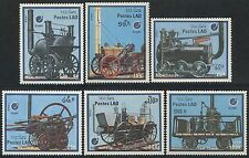 LAOS N°853/858** Locomotives, trains 1988, Sc#849-854 MNH