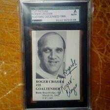Roger Crozier signed autograph SGC authentic. Calder + Conn Smythe HHOF - RARE!