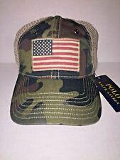 Polo Ralph Lauren Camo USA Flag Trucker Hat Cap