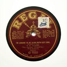"G. H. ELLIOTT ""je suis Longing to be avec Lucy long"" 1919 Regal G-7515 [78]"