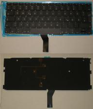 "TASTIERA QWERTZ TEDESCA APPLE Macbook Air A1370 A1465 11.6"" retroilluminato"