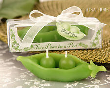 20Set Two Peas In a Pod Candle For Wedding Party Birthday Souvenirs Gifts Favor