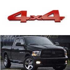 For Dodge Ram 1500 4X4 Mopar Tailgate Badge Logo Nameplate Emblem - Metal Red