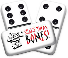 Greeting Series Shake them Bones Design Double six Professional size Dominoes