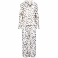 Womens Nightwear Pyjamas Ladies Flannel Fleece 100% Cotton PJs Top Pants Set